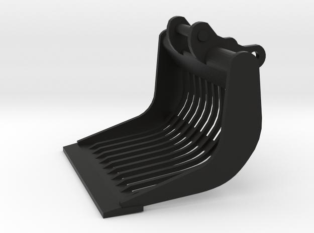 Puinbak voor 13-15 tons kraan, schaalmodel 1:50, m in Black Natural Versatile Plastic