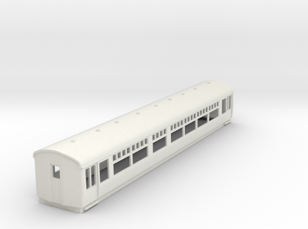 O-87-lner-trailer-1st-coach in White Natural Versatile Plastic