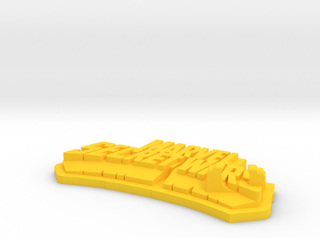 Base Display for Secret Wars 80's Figure in Yellow Processed Versatile Plastic
