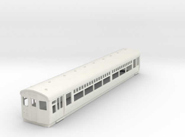 O-87-lner-driver-3rd-coach in White Natural Versatile Plastic