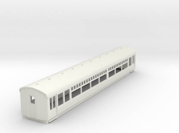 O-87-lner-trailer-3rd-coach in White Natural Versatile Plastic
