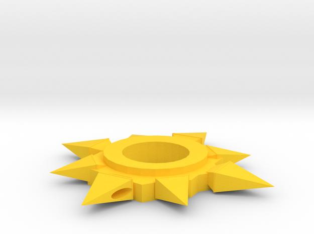 Symbol of Pelor in Yellow Processed Versatile Plastic