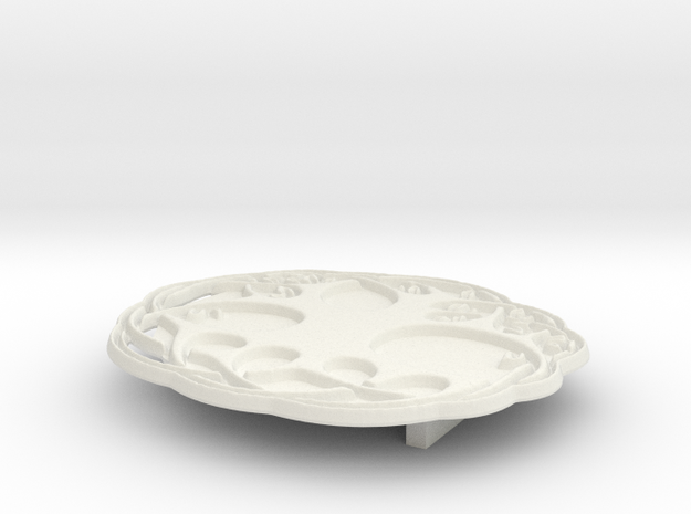 Tree of Life Buckle in White Natural Versatile Plastic