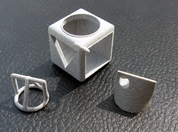 Shape Sorter Circle, Triangle, Square Pendant 3d printed Shown with outline pendant and box pendant, available separately
