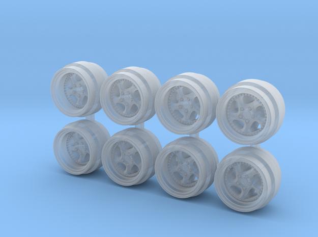 Turbo Twist 3p 7-3 Hot Wheels Rims in Smoothest Fine Detail Plastic