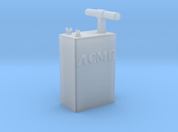 TNT Detonator, ACME Brand, 1:8 scale in Smooth Fine Detail Plastic