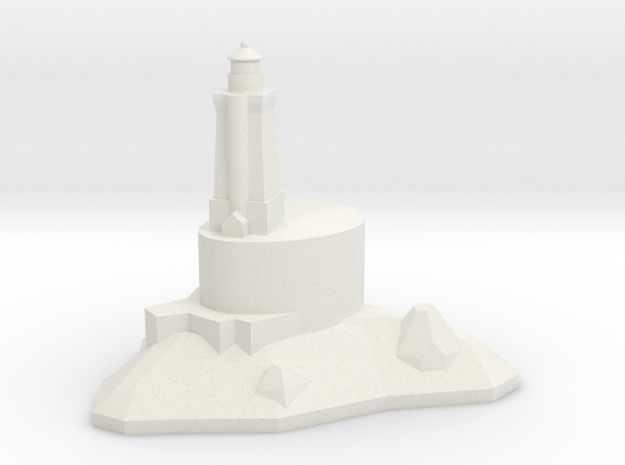 1/1200 St. George Reef Lighthouse in White Natural Versatile Plastic