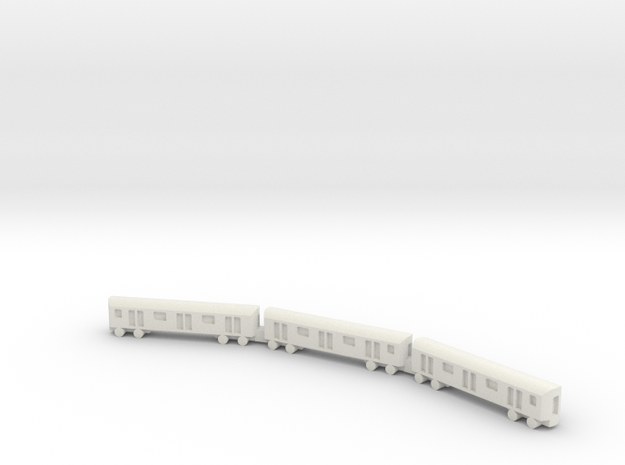 1/1200 NYC Subway in White Natural Versatile Plastic