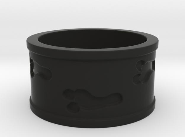 Mutant Footprints Ring (Plastic) in Black Natural Versatile Plastic: 5 / 49