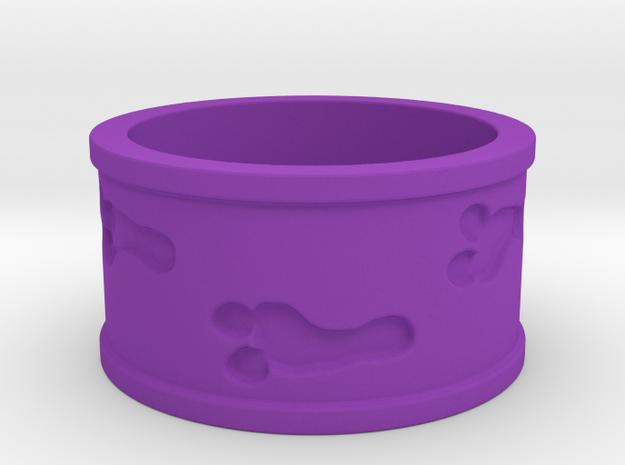 Mutant Footprints Team Colors Ring (Plastic) in Purple Processed Versatile Plastic: 5 / 49
