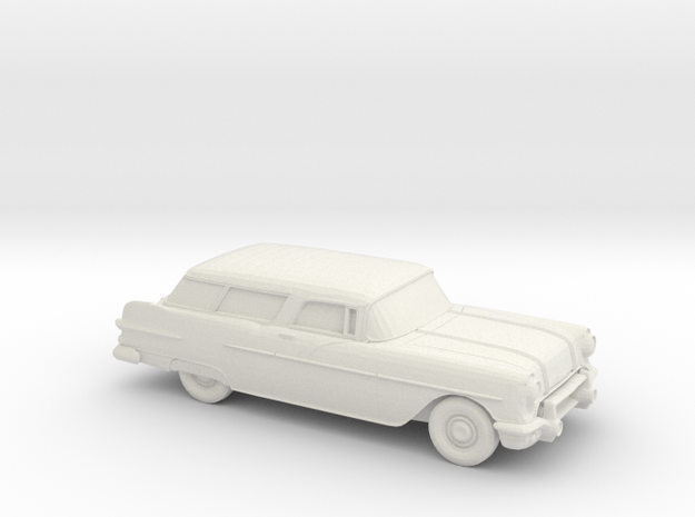 1/76 1957 Pontiac Safari in White Natural Versatile Plastic