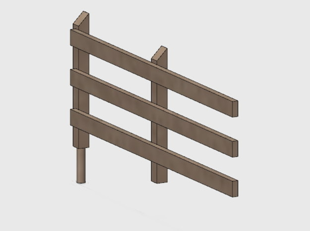 Wood Rail Fence - 2L (2 EA.) in White Natural Versatile Plastic: 1:87 - HO