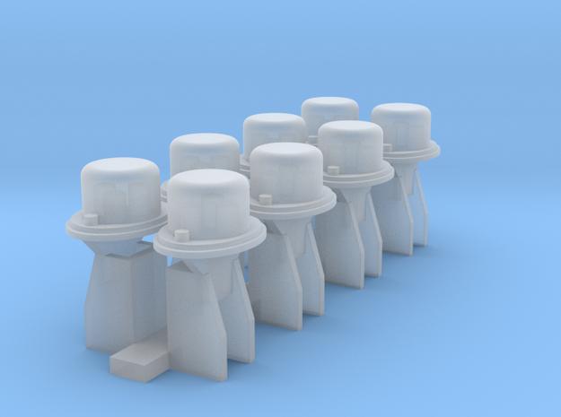 8 Borniers in Smooth Fine Detail Plastic