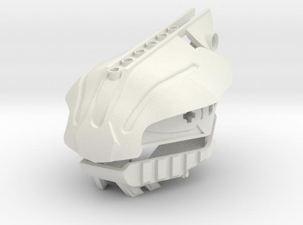 Bionicle Night Fury Head in White Natural Versatile Plastic
