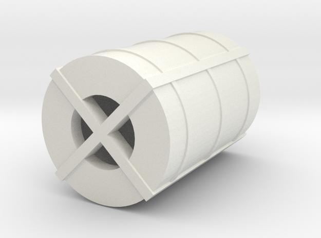 OO Gauge Steel Coil in White Natural Versatile Plastic