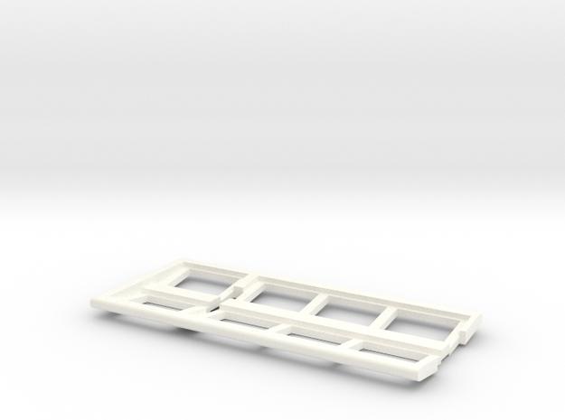 OO Gauge Platform Canopy End in White Processed Versatile Plastic