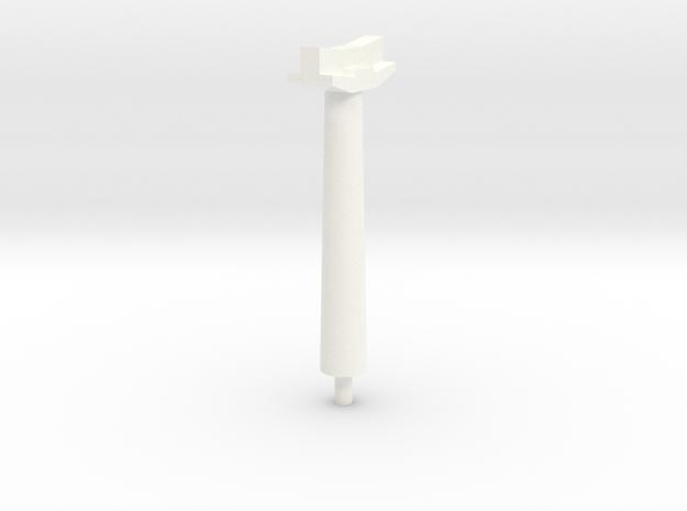 OO Gauge Platform Canopy Post in White Processed Versatile Plastic