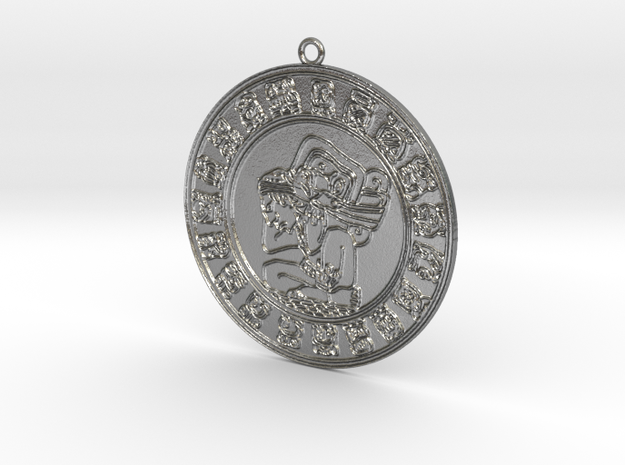 Maya Pendant B in Natural Silver