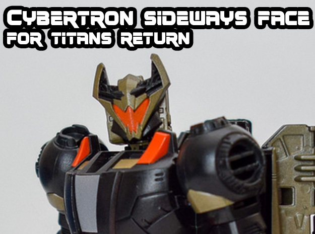 Sideways, Cybertron Face (Titans Return) in Smooth Fine Detail Plastic
