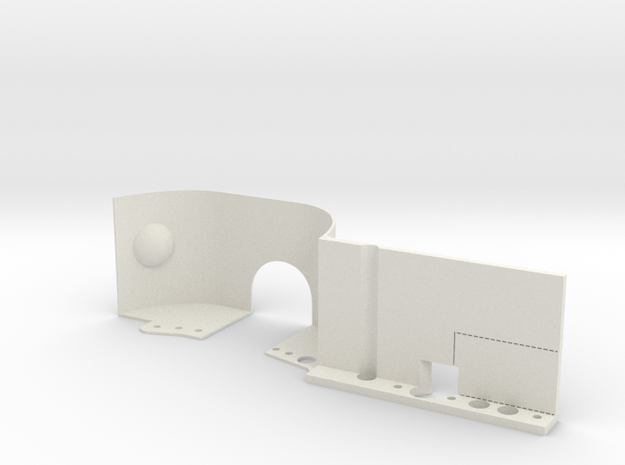 EX-Real Inner Fenders LEFT FRONT in White Natural Versatile Plastic