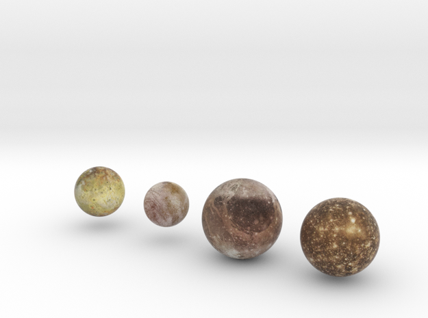 Galilean Satellites 1:250 million in Full Color Sandstone
