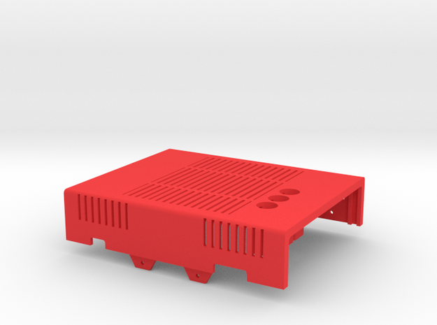 MiSTer Case Universal v5.2 Top Shell(1/4) in Red Processed Versatile Plastic