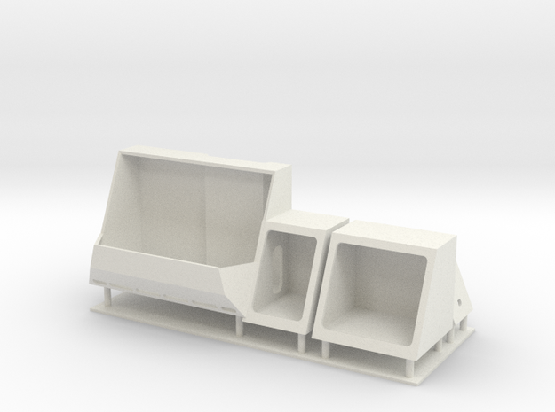 1/96 LCS 2 Side compartments in White Natural Versatile Plastic