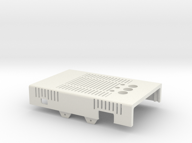MiSTer XS Case v5.x XS Top Shell(1/4) in White Natural Versatile Plastic