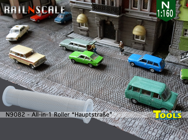 All-in-1 Roller Hauptstraße (N 1:160 - TT 1:120) in Smooth Fine Detail Plastic