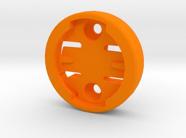 Wahoo Female Plate - Countersunk Holes in Orange Processed Versatile Plastic