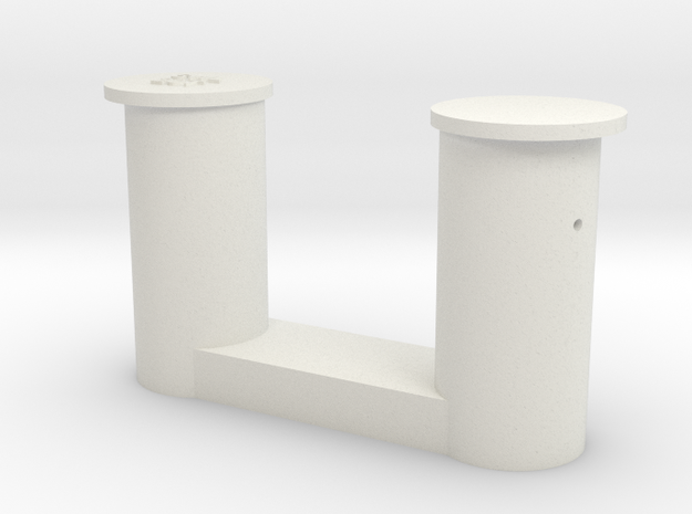 1 bollard big_1 Poller groß 1:50 in White Natural Versatile Plastic