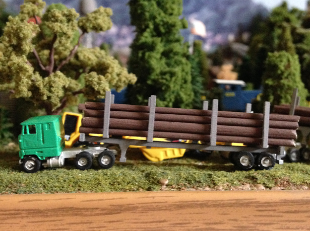 Logging Bunks For Trailers in Smooth Fine Detail Plastic