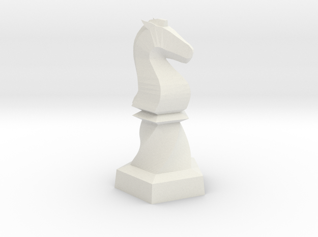 Geometric Chess Set Knight in White Premium Versatile Plastic