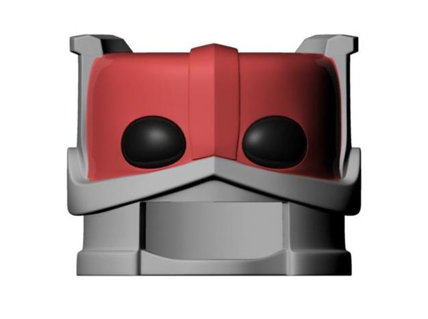 Zodac's helmet for minimate 3d printed