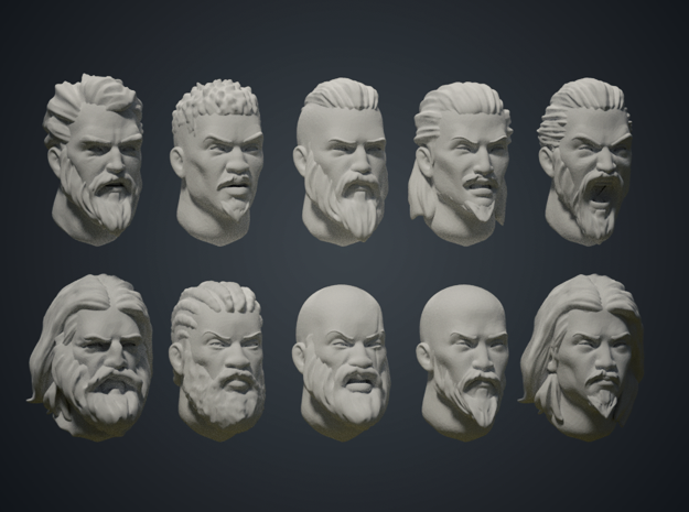 Warfaces 2 - Mix Male in Smoothest Fine Detail Plastic