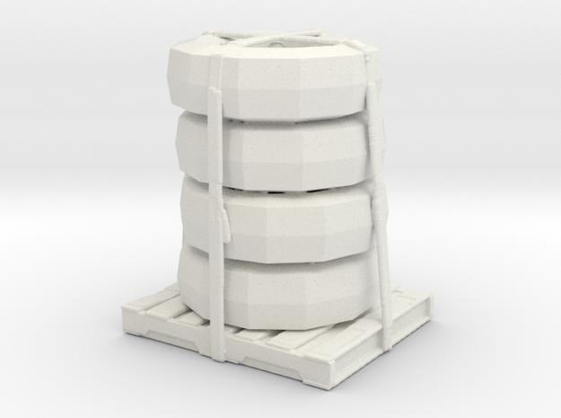Tire Stack  in White Natural Versatile Plastic