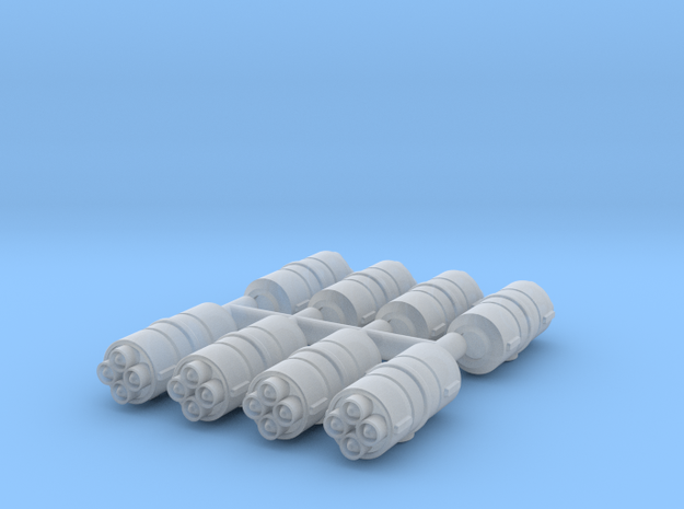 1/270 Rocket Pods (8) in Smooth Fine Detail Plastic