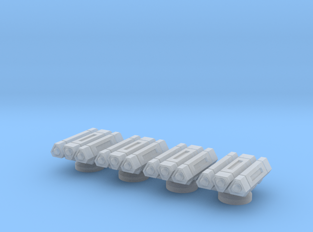 1/270 Missile Packs (4) in Smooth Fine Detail Plastic