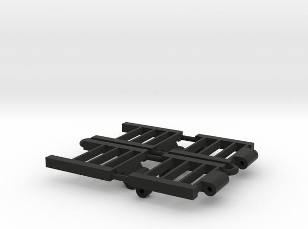 1/64 Combine Trailer Ramps in Black Natural Versatile Plastic