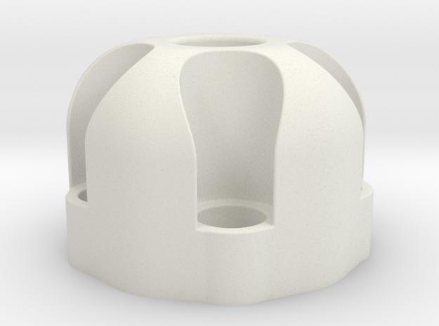 510 Thread Vape Cartridge Holder - Revolver Design in White Natural Versatile Plastic