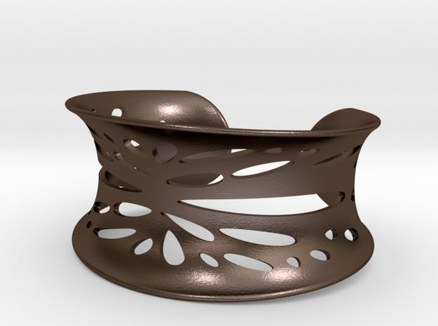Stretched Coral Bracelet in Polished Bronze Steel
