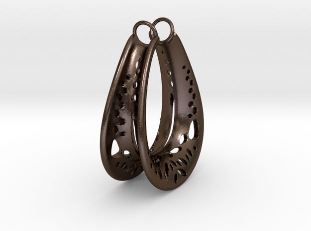 Stretched Hoop Component in Polished Bronze Steel