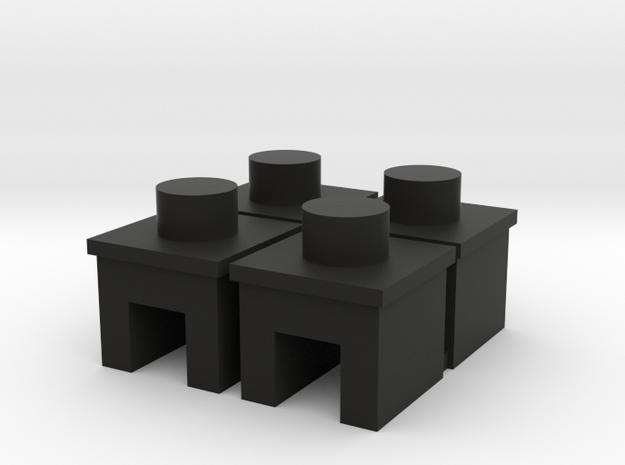 veldbed doppen in Black Natural Versatile Plastic