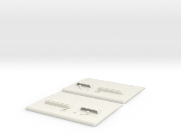 Blazer Door Panels  in White Natural Versatile Plastic