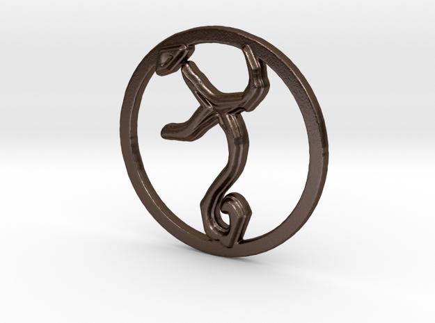 Guidance in Polished Bronze Steel