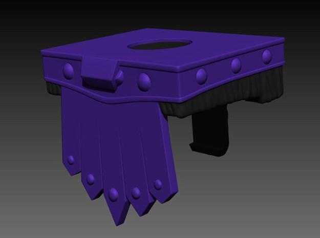 Skeletor's belt for minimate in Smooth Fine Detail Plastic