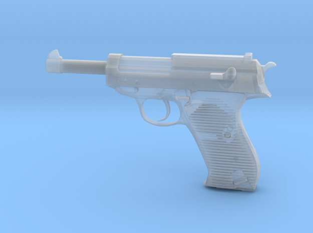 1/4 Scale Walthers P38 Pistol  in Smooth Fine Detail Plastic