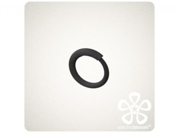 Snap ring. Size 20.5mm 3d printed SNAP RING IN BLACK
