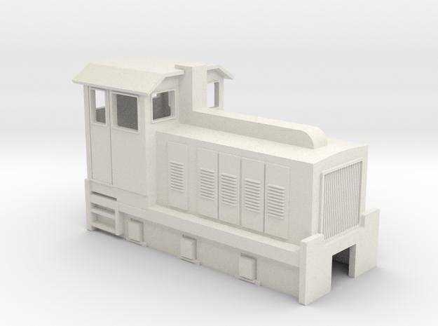 HOn30 Australian 6w Sugar Cane Locomotive  in White Natural Versatile Plastic