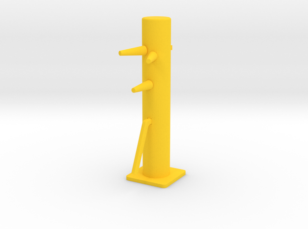 Desktop Mini Wooden Dummy in Yellow Processed Versatile Plastic